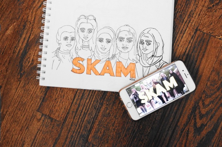 Illustration of the characters from SKAM by Asti Stenning