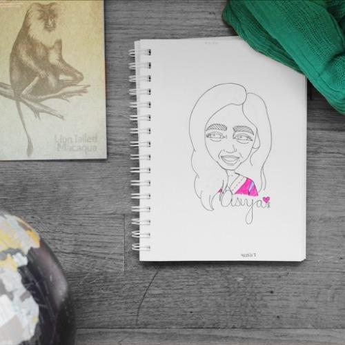 Illustration of Asiya from Literary Head by Asti Stenning