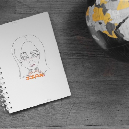 Illustration of Sian from Sian Blogs by Asti Stenning
