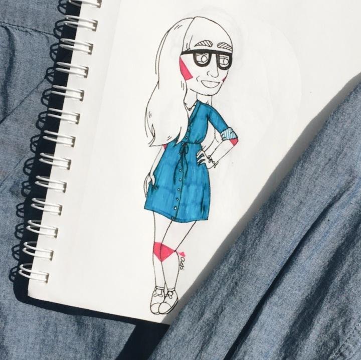 Summer OOTD illustration: dress by Asti Stenning